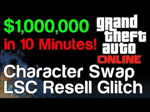 GTA Online Character Swap Glitch! Easy Money Making Glitch - Make Money Online (1.04) - 동영상