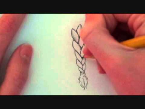 how to draw a braid easy tutorial youtube