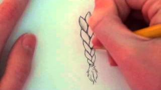 How To Draw A Braid - Easy Tutorial