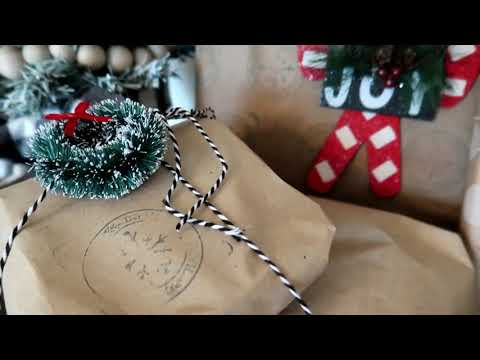 6 Vintage Farm House Inspired Gift Wrapping Ideas | Christmas Gift Wrapping
