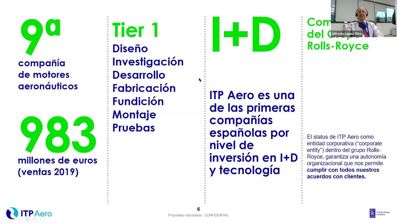 ITP Aero junto con la Universidad española líderes tecnológicos en aerorreactores