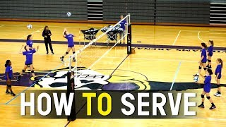 Youth Volleyball - How to Serve  - Coach Julie Torbett