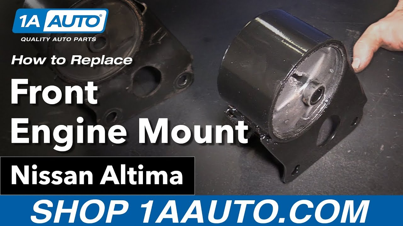 hight resolution of how to replace front engine mount 02 06 nissan altima