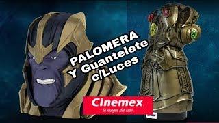 Espectacular Palomera 3D de Thanos y Guantelete con Luces de Cinemex!!