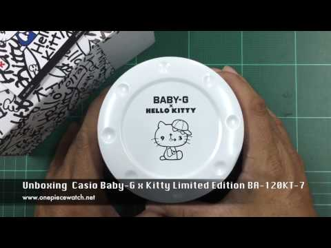 Unboxing Casio Baby-G x Kitty Limited Edition BA-120KT-7 (คิตตี้)