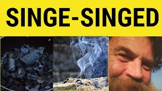 Singe - Meaning Definition Examples - Vocabulary for IELTS CAE CPE - British English Pronunciation
