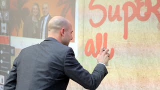 Digitale graffiti als gastenboek! Voor Technopolis in Mechelen