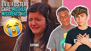 Evil Foster Parent Mean To Small Child **REACTING to Dhar Mann ** |Ayden Mekus
