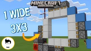 Minecraft BE PERFECT 3X3 PISTON DOOR! (PE/Xbox/Windows10/Switch)