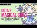 『 ART TIMELAPSE 』DOTA 2 MAGICAL GIRLS PART 1: LINEART