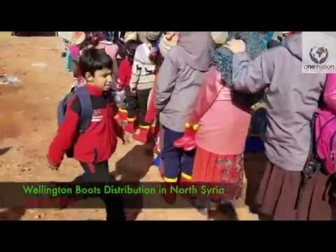 Winter In Syria, Wellington Boots Distribution In North Syria ~January 2019~