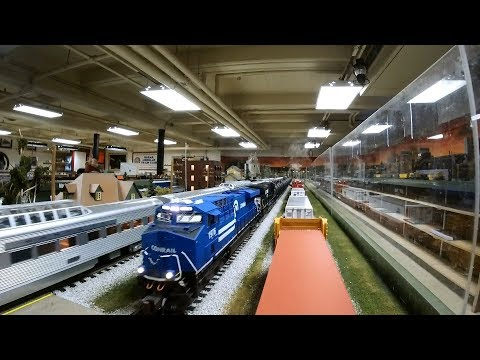 Model Train Cab Ride- BNSF, Santa Fe, ATSF, Northern Pacific, Norfolk Southern