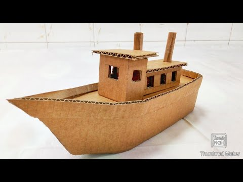 How to make ship with cardboard #very easy#