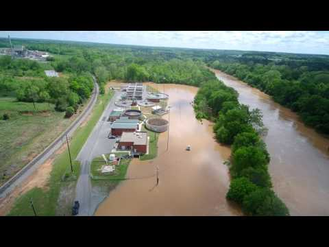 South Boston Virginia Flooding (LEGAL FOOTAGE) Licensed FAA UAS Drone Pilot