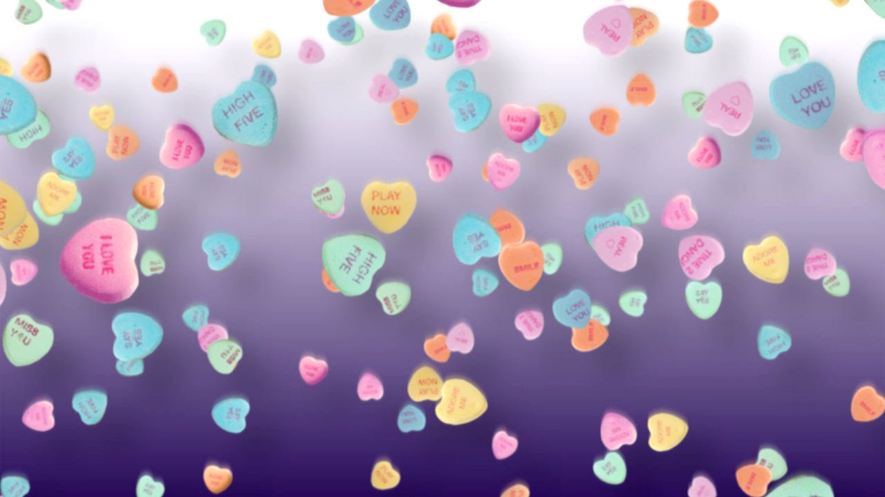 Free Valentine's Day Background - Candy Hearts - YouTube