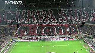 Milan Vs JUVENTUS Choreo Curva Sud Milano