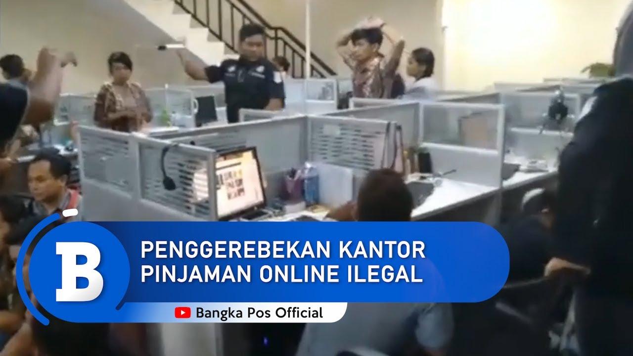 Video Detik Detik Kantor Pinjaman Online Ilegal Digerebek Polisi