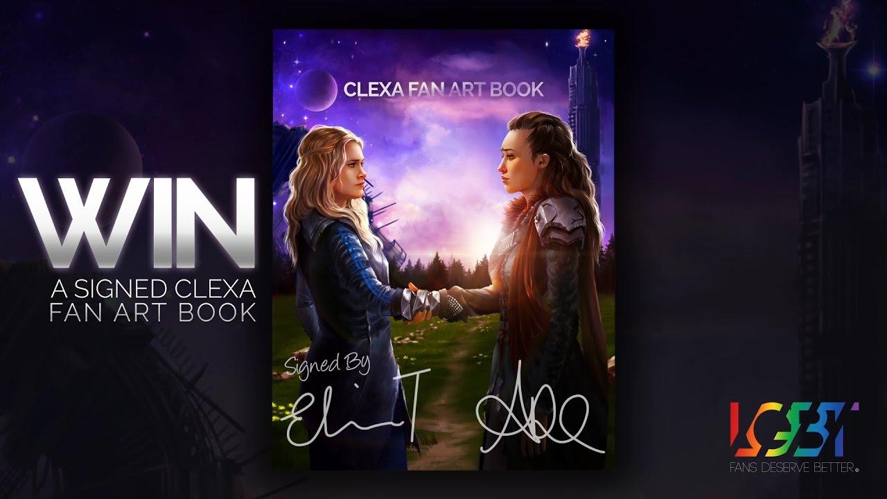 clexa fan art book raffle announcement clexa fan art book raffle announcement