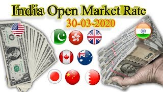 Today India open market Currency Exchange rates, USD to INR, INR to USD, 30 March 2020 updated rates