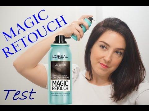 je teste le spray magic retouch l 39 or al anti racines youtube. Black Bedroom Furniture Sets. Home Design Ideas