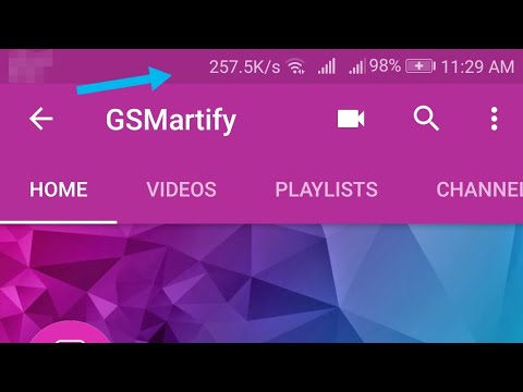 How To Enable Network Speed Display On Status Bar