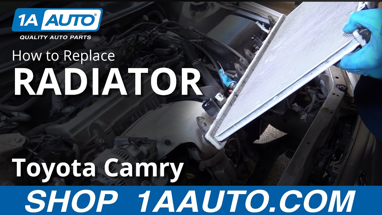 medium resolution of how to replace install radiator 1997 01 toyota camry