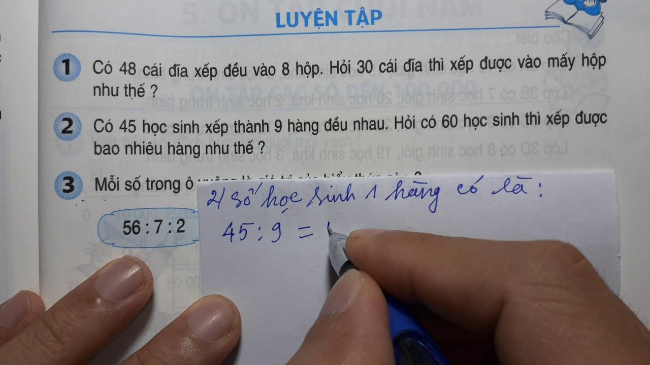 TOÁN LỚP 3 – SGK/ Trang 167 – LUYỆN TẬP – Thầy Nhựt TV