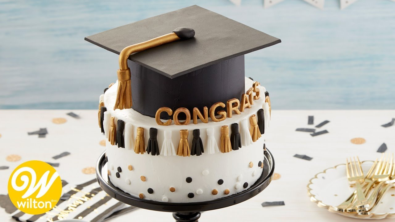 How To Make A Graduation Tassel Cake Wilton Youtube