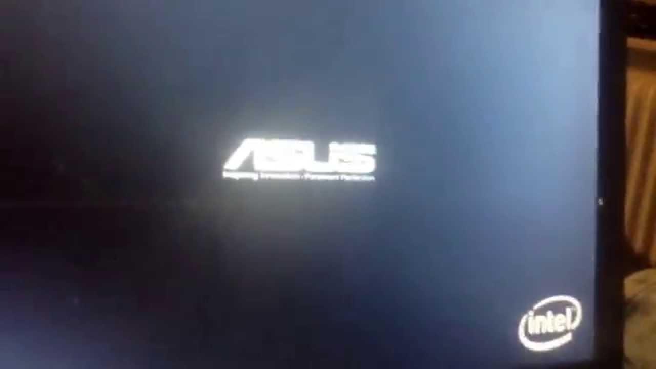 help asus laptop stuck in asus logo youtube