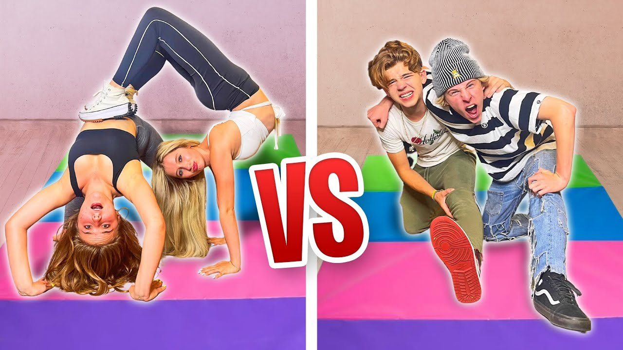 FLEXIBILITY CHALLENGE GIRLS vs BOYS **IMPOSSIBLE**  Elliana Walmsley
