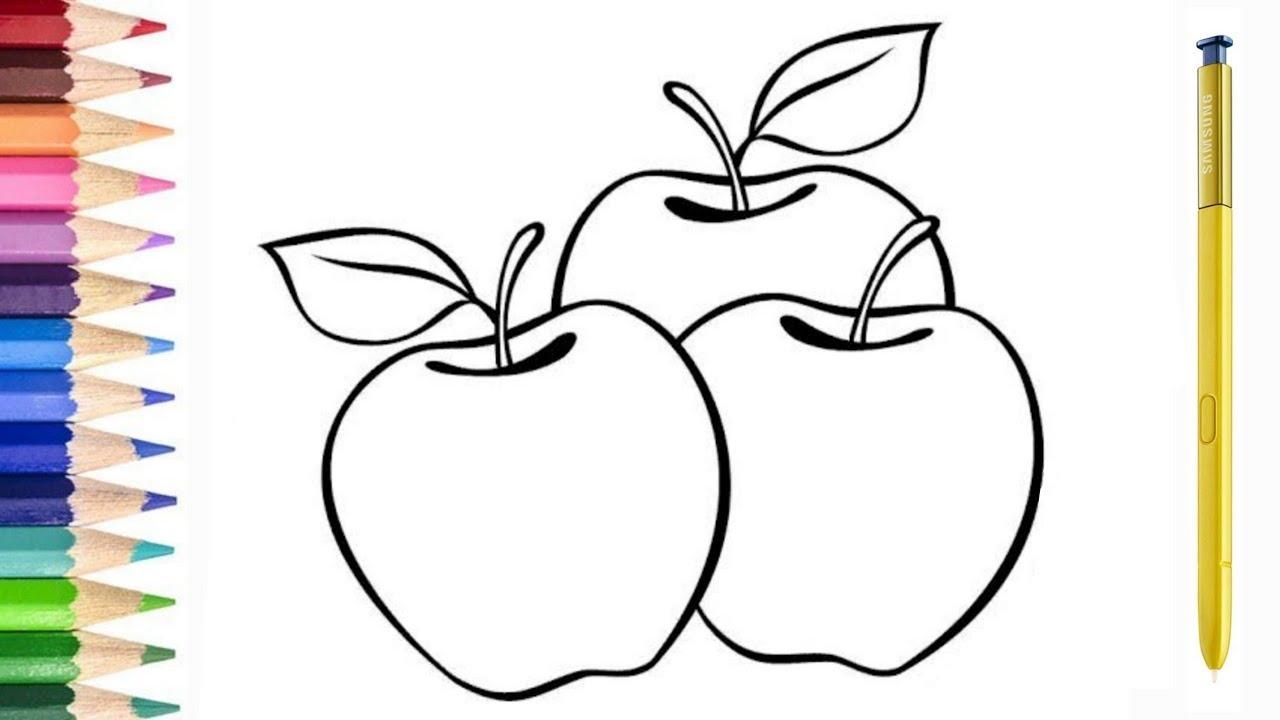 40 Mewarnai Gambar Apel Kartun Terpopuler Lingkar Png