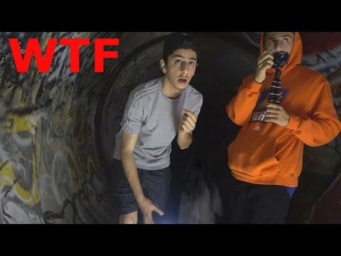 LITTLE GIRL SCREAMS IN THE HAUNTED TUNNEL... (WTF)
