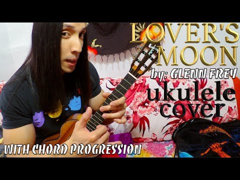 Lover's Moon by Glenn Frey ukulele cover with chords & lyrics on a Kamaka HF3 D2i