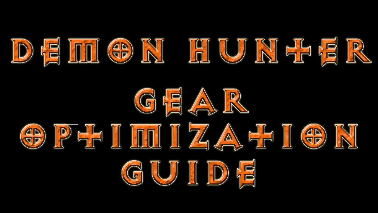 Diablo 3 - Demon Hunter Gear Optimization (RoS Patch 2.1.2) - YouTube