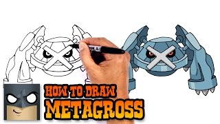 How to Draw Metagross | Pokemon