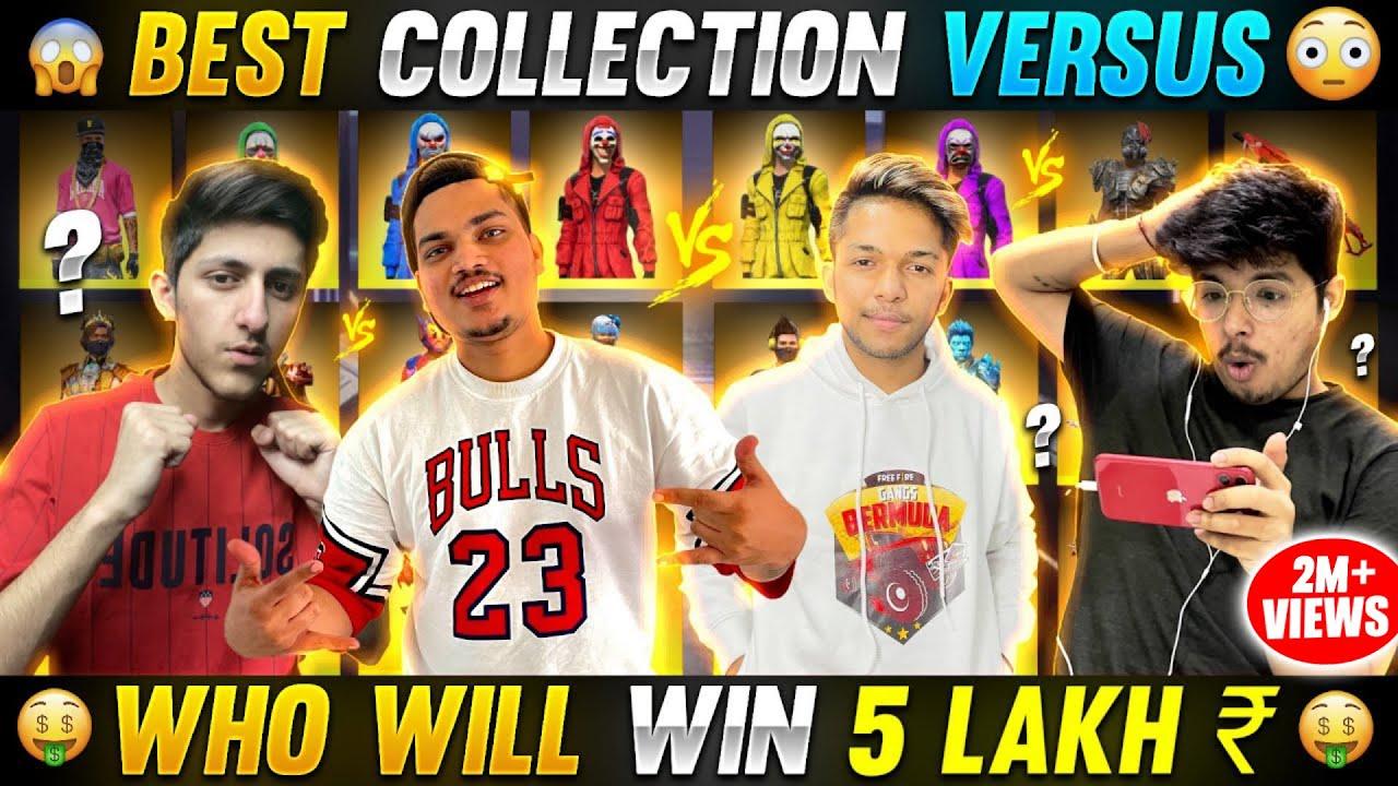 Lokesh Gamer & As Gaming VS Jash &  Ritik ? Richest Collection Versus Battle For ₹5 Lakh - F