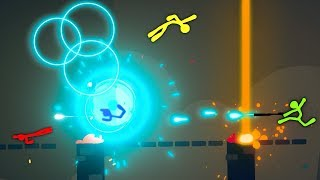 WHAT is THAT!? Crazy Alien Technology! (Stick fight the Game Multiplayer Gameplay)