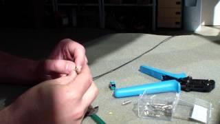 Как обжать коаксиальный провод.(, 2015-06-01T20:17:56.000Z)
