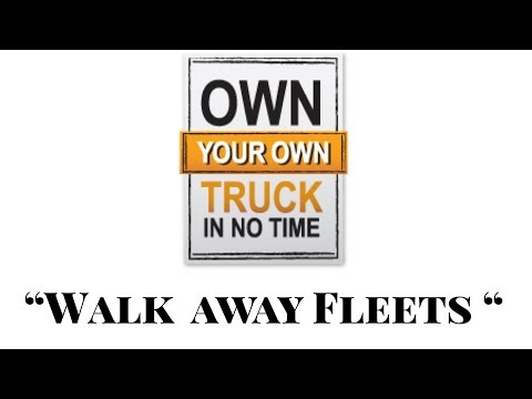 """Walk away fleets"" Building a shell trucking company  under a leased carrier ... WHY ?"