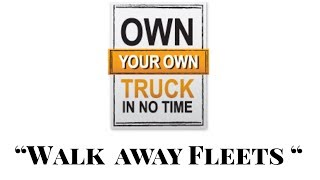 """Walk away fleets"" Building a shell trucking company  under a leased carrier ... WHY ? thumbnail"