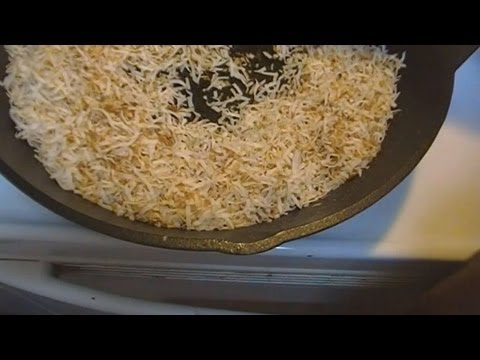 How to Toast Coconut ~  Noreen's Kitchen Basics