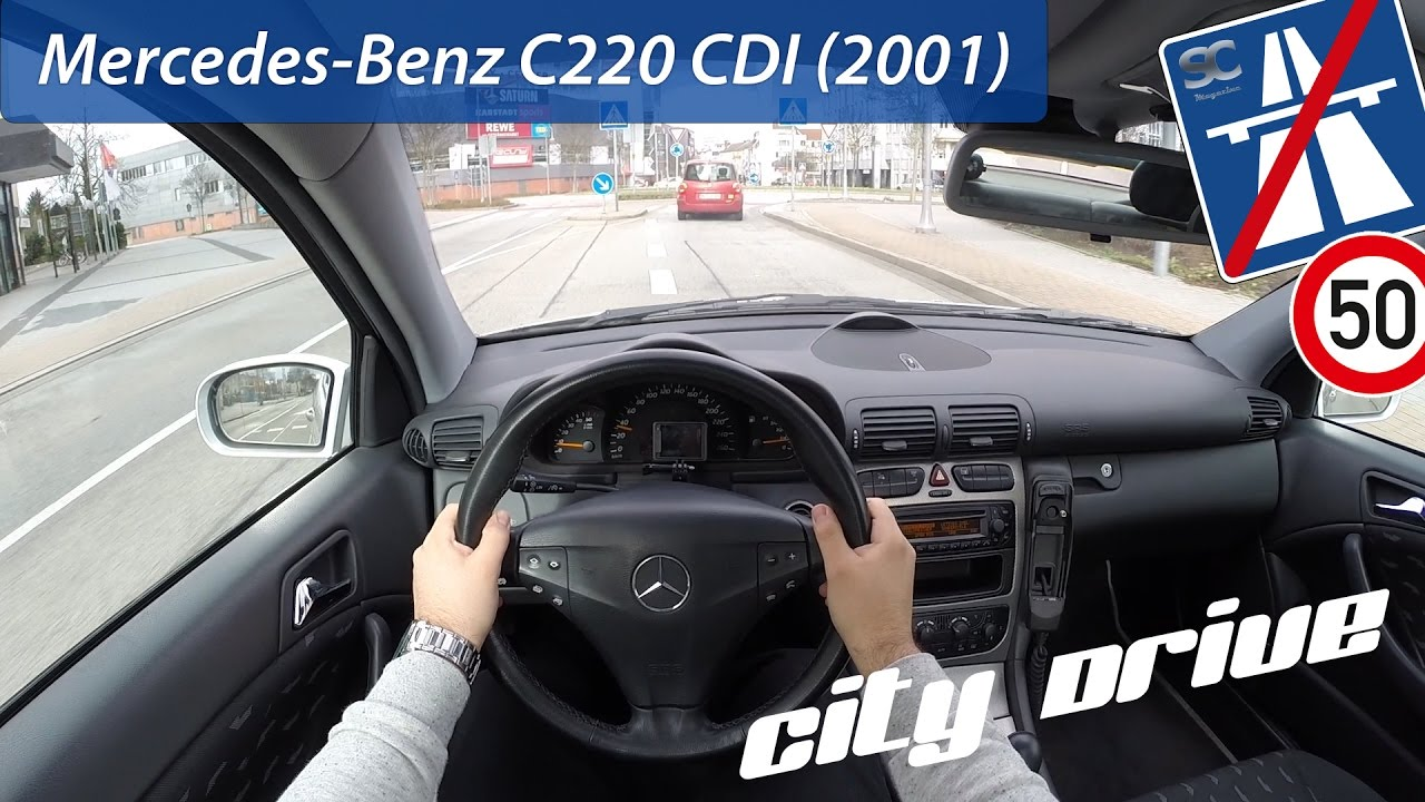 mercedes benz c 220 cdi 2001 pov city drive youtube. Black Bedroom Furniture Sets. Home Design Ideas