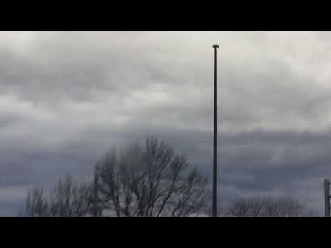 High mast streetlight down on Interstate 70 exit 26 in Maryland