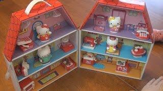 Распаковка и обзор товара Игровой набор Hello Kitty Картонный домик Китти