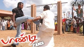 Pandi Tamil Movie | Scene | End Credit Climax Fight | Raghava Lawrence, Raj Kapoor