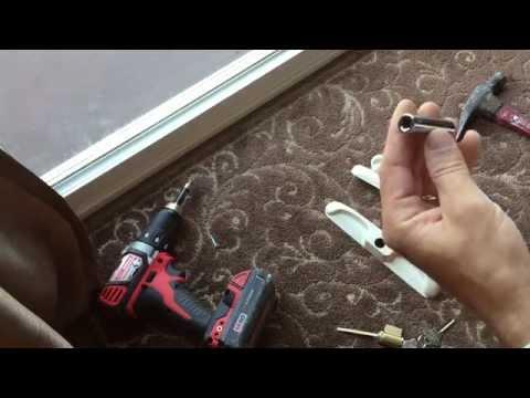 Installing A Sliding Glass Door Lock With Keys Youtube