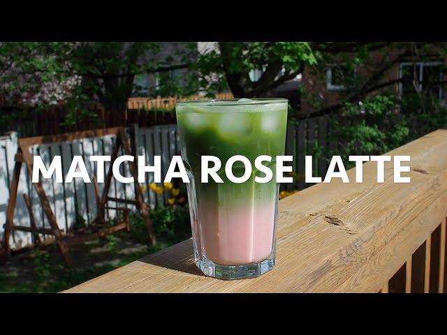 Iced Matcha Rose Latte