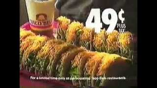 1989 taco bell 49¢ taco duel commercial
