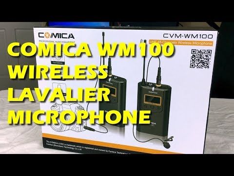 New Comica WM100 Wireless UHF Lavalier Microphone 48 Channel for YouTube Videos and Videographers