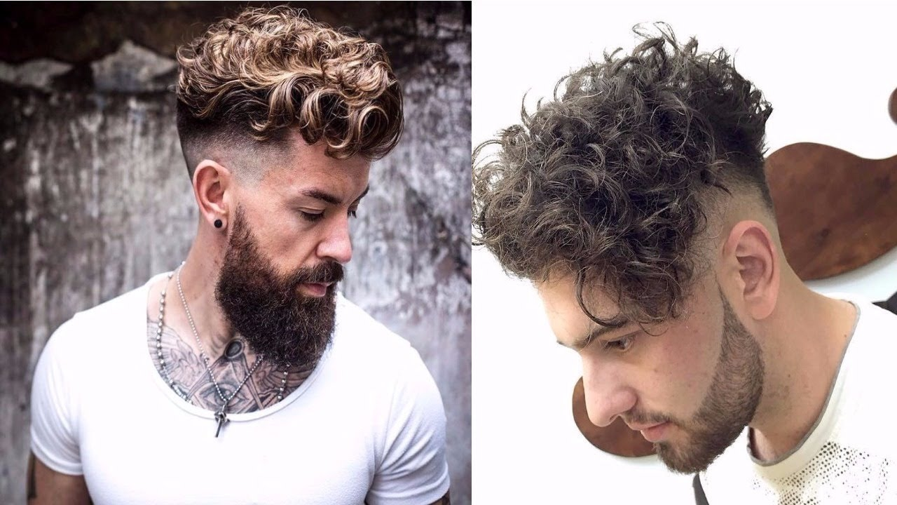 Top Fashionable Hairstyles For Men 2017 2018 Best Trendy: 10 New Sexiest Curly Hairstyles For Men 2017-2018